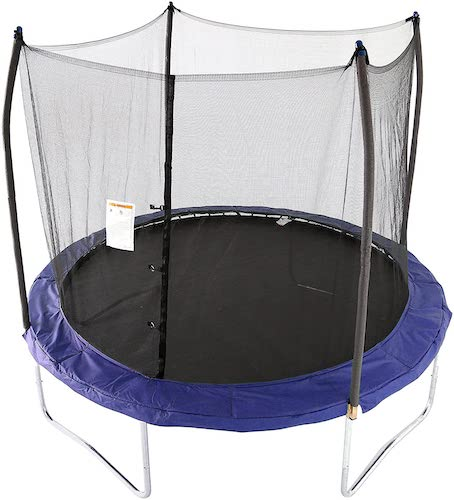 7.Skywalker Trampolines 10 -Foot Round Trampoline and Enclosure with spring