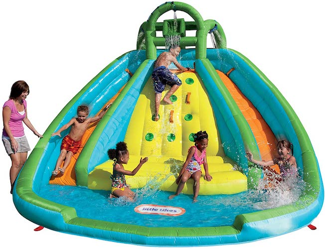 1. Little Tikes Rocky Mountain River Race Inflatable Slide Bouncer