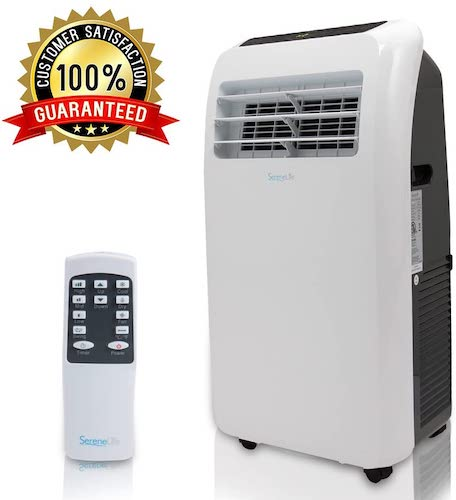 4. SereneLife 10,000 BTU Portable Air Conditioner, 3-in-1 Floor AC Unit with Built-in Dehumidifier, Fan Modes, Remote Control