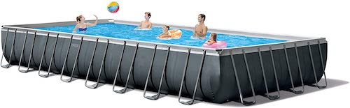 2.Intex 32ft X 16ft X 52in Ultra XTR Rectangular Pool Set with Sand Filter Pump & Saltwater System