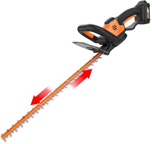 3. WORX WG261 20V Power Share 22-Inch Cordless Hedge Trimmer