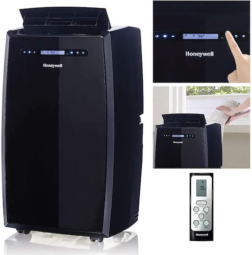 7. Honeywell (Black MN14CCSBB Portable Air Conditioner with Dehumidifier, Fan with Remote Control & Advanced LCD Display