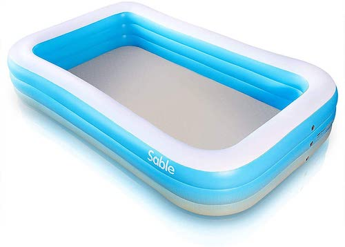 8.Sable Inflatable Pool, Swimming Pool for Baby, Kiddie, Kids, Adult, Infant, Toddler, 118