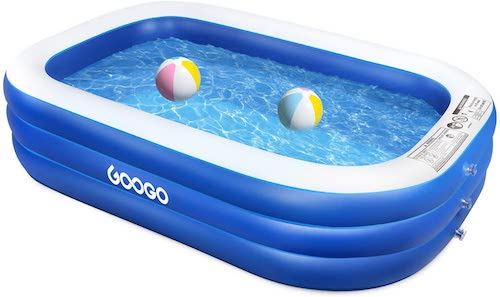 6.GOOGO Family Inflatable Swimming Pool, 92
