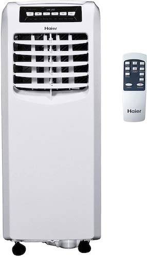 9. Haier QPCD08AXLW 8000 BTU 250 Square Foot Electric Portable Air Conditioner AC Cooling Unit, White (Renewed)