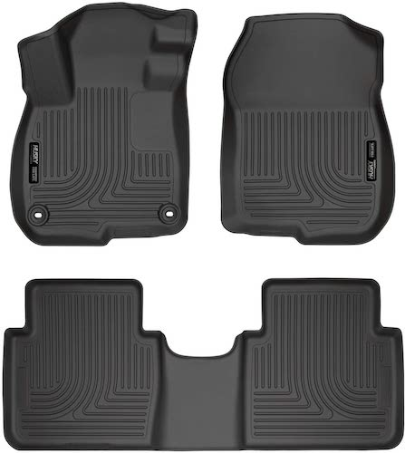 2. Husky Liners Fits 2017-19 Honda CR-V Weatherbeater Front & 2nd Seat Floor Mats