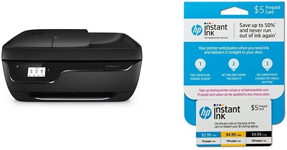 5. HP OfficeJet 3830 All-in-One Wireless Printer with Mobile Printing (K7V40A)