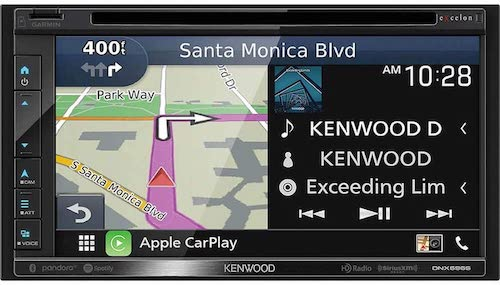 7. Kenwood DNX696S 6.8 Inch Apple CarPlay, Android Auto A/V Receiver