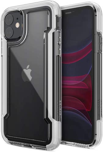 8.X-Doria Defense Clear, iPhone 11 Case - Military Grade Drop Protection, Shock Protection, Clear Protective Case for Apple iPhone 11