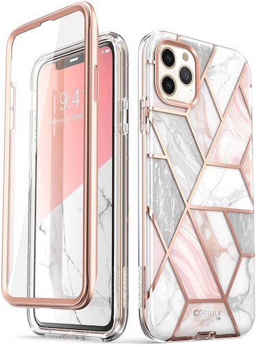2.i-Blason Cosmo Series Case for iPhone 11 Pro Max 2019 Release, Slim Full-Body Stylish Protective Case (Marble)