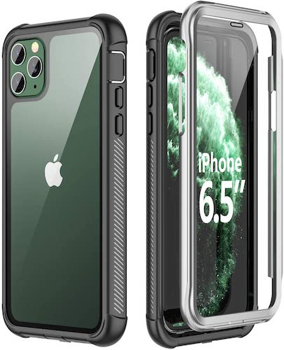 5.SPIDERCASE iPhone 11 Pro Max Case, Built-in Screen Protector Full Heavy Duty Protection Shockproof Anti-Scratched Rugged Case