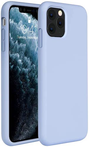 3.Miracase Liquid Silicone Case Compatible with iPhone 11 Pro Max 6.5 inch(2019), Gel Rubber Full Body Protection
