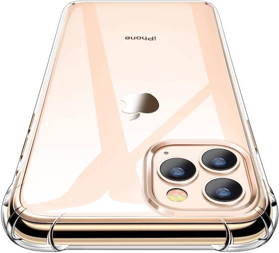 8.iPhone 11 Pro Max Case, CANSHN Clear Protective Heavy Duty Case with Soft TPU Bumper [Slim Thin] Case