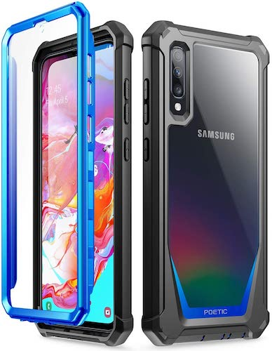 8.Poetic Guardian Series Case Designed for Samsung Galaxy A70 Case, Full-Body Hybrid Shockproof Bumper Cover