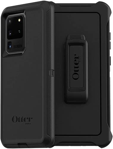 7.OtterBox Defender Series Screenless Edition Case for Galaxy S20 Ultra/Galaxy S20 Ultra 5G - BLACK