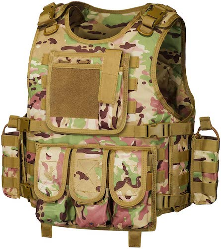 3.GZ XINXING Black Tactical Airsoft Paintball Vest