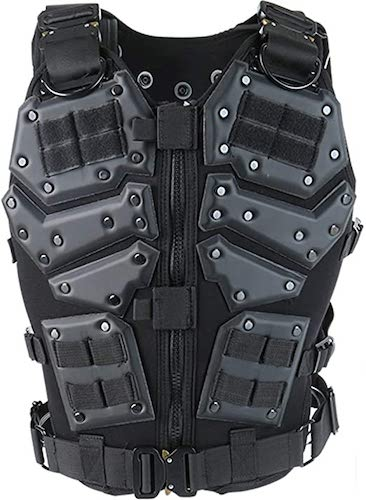 7.ActionUnion Airsoft Tactical Vest Military Costume Molle Chest Protectors Gilet Paintball Vest
