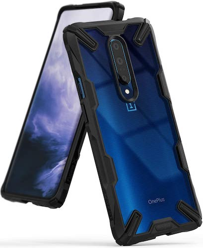 3.Ringke Fusion-X Designed for OnePlus 7 Pro Case Impact Resistant Protection Cover