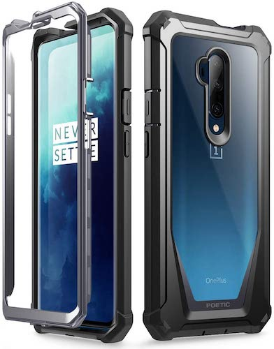 8.Poetic OnePlus 7 Pro Rugged Clear Case, Full-Body Hybrid Shockproof Bumper Cover
