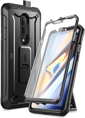 2.SupCase Unicorn Beetle Pro Series Case Designed for OnePlus 7 Pro, Full-Body Rugged Holster Kickstand OnePlus 7 Pro Case