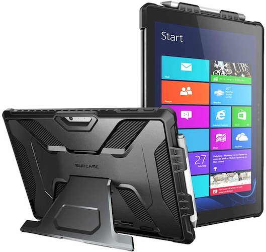 5.SUPCASE [UB PRO Series] Full-Body Kickstand Rugged Protective Case for Surface Pro 7/Pro 6 Case