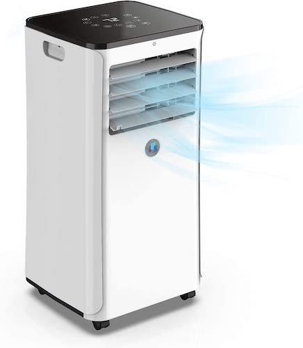 1.JHS WiFi 10,000 BTU Portable Air Conditioner Upgraded Digital Thermostat Control, Real-time Room Temperature Display