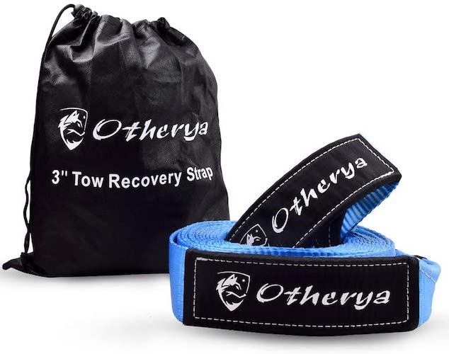 9.Recovery Tow Strap 3'' x 20 ft - Lab Tested 30,000lb Break Strength