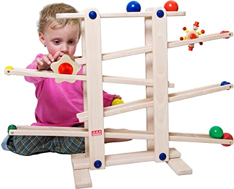 1. Trihorse Wooden Marble Run, 19 Inches Tall - Sustainable Toys for Toddlers from 1 Year Old