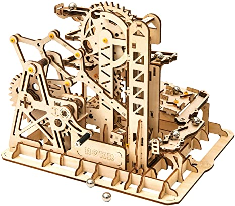 2. Rowood 3D Wooden Marble Run Puzzle Craft Toy, Gift for Adults & Teen Boys Girls, Age 14+, DIY Model Building Kits