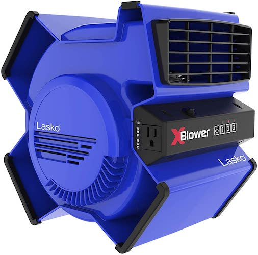 4.Lasko High Velocity X-Blower Utility Fan for Cooling, Ventilating, Exhausting and Drying