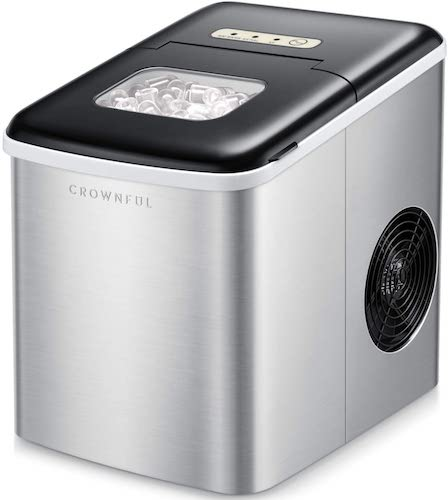 3.Crownful Ice Maker Machine for Countertop, 9 Ice Cubes Ready in 8-10 Minutes