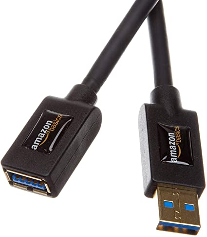 9. AmazonBasics USB 3.0 Extension Cable - A-Male to A-Female Adapter Cord- 9.8 Feet