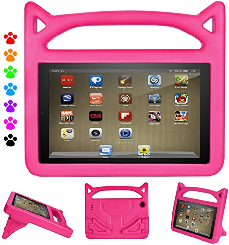 3. Kindle Fire 7 Case,Fire Tablet 7 Case,Amazon Fire 7 Case for Kids-Dinines Kids Shock Proof Protective Cover Case