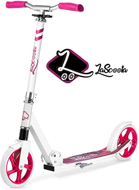 8. Lascoota Scooters for Kids 8 Years and up - Quick-Release Folding System