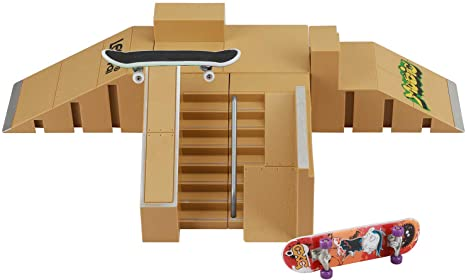 6. ideallife Skate Park Kit, Skate Park Kit Ramp Parts for Finger Skateboard Ultimate Parks Training Props