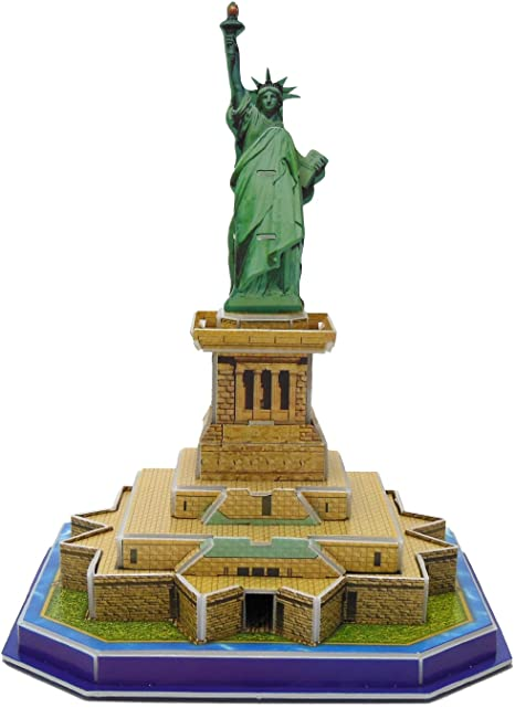 2. Runsong Creative 3D Puzzle Paper Model Statue of Liberty DIY Fun & Educational Toys World Great Architecture Series