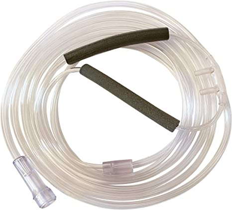 9. 5-Pack Westmed #0553 Adult Soft Tipped Comfort Plus Cannula with EarMates Attached and 7' Kink Resistant Tubing