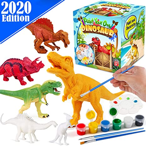 4. FunzBo Kids Crafts and Arts Set Painting Kit - Dinosaurs Toys Art and Craft Supplies Party Favors for Boys Girls