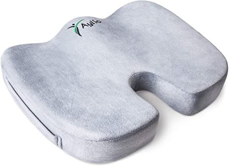 7. Aylio Coccyx Orthopedic Comfort Foam Seat Cushion for Lower Back, Tailbone and Sciatica Pain Relief