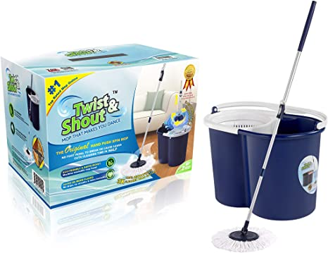 6. Twist and Shout Mop - Award Winning Original Hand Push Spin Mop