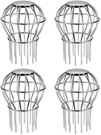 5. Gutter Guard 3 Inch 304 Stainless Steel Filter Strainer, Stops Leaves Seeds and Other Debris Gutter Cleaning Tool