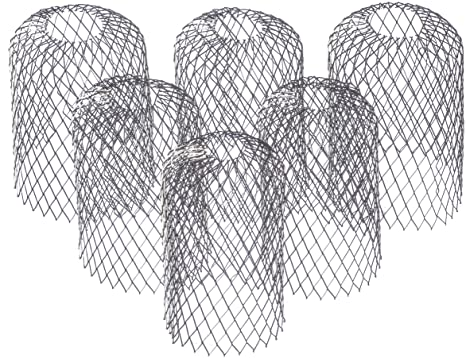 2. 6 Pack Stainless Steel - Gutter Guard 3 Inch Expandable Filter Strainer. Stops Blockage from Leaves and Debris