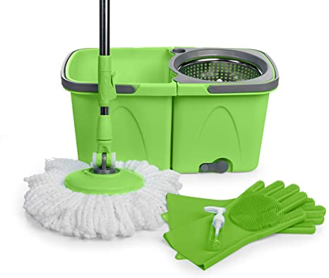 10. SoftSpin Spin Mop and Bucket – 2 Stage Floor Mop System with Built-in Detergent Dispenser